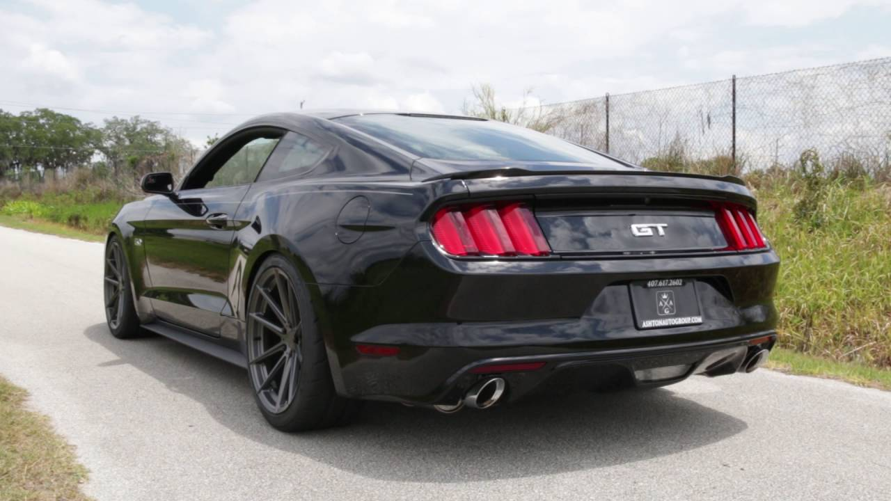 2015 2016 mustang gt roush axle back exhaust