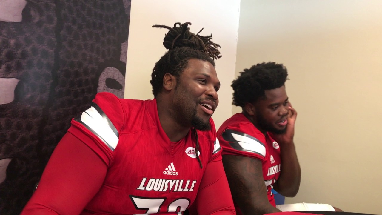 on sale 3bfb4 b9d58 Lukayus McNeil and Geron Christian- Louisville Media Day 2