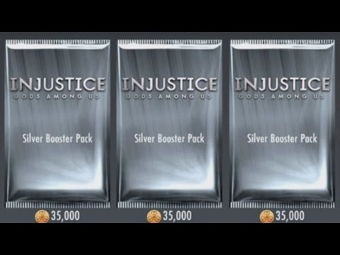 Injustice Gods Among Us (iOS/Android) SILVER BOOSTER PACK OPENING