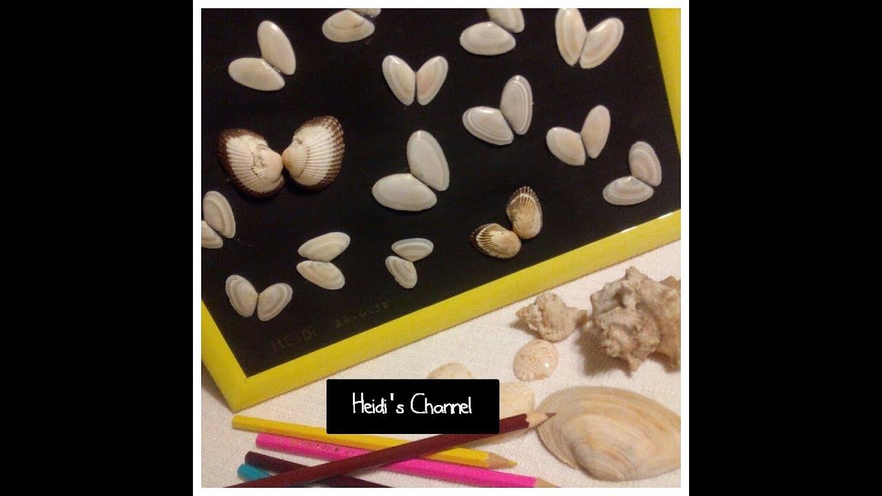 Manualidades cuadro de mariposas con conchas de mar - Manualidades con conchas ...