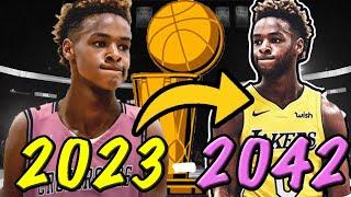 LEBRON JAMES JR ENTIRE CAREER SIMULATION! BETTER THAN HIS DAD?!? NBA 2K20