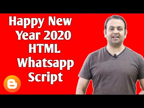 Happy New Year 2020 HTML Free Festival Wishing Website Script For Blogger (Hindi)
