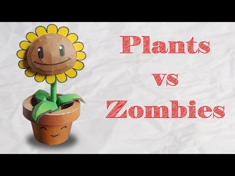 Papercraft ! Plants VS Zombies - Tournesol en papier
