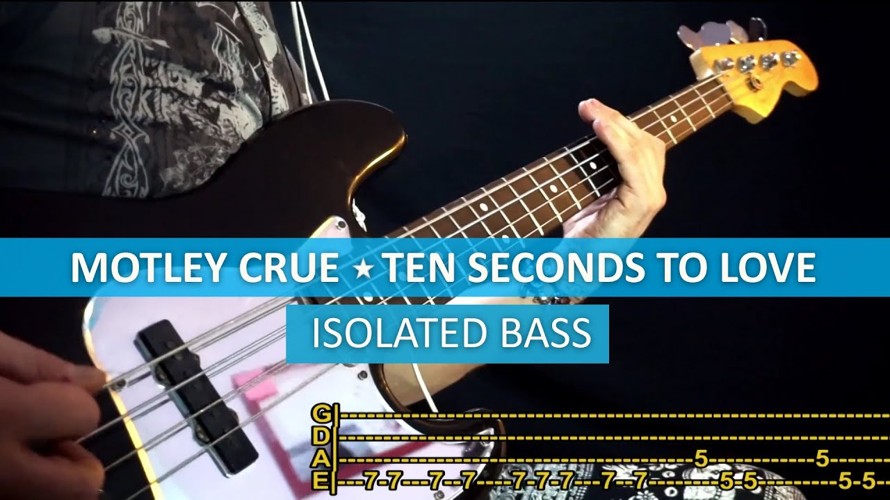 Motley Crue Dr Feelgood Bass Cover Playalong With Tab Youtube