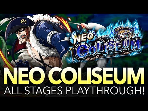 NEO COLISEUM X DRAKE! All Stages Playthrough! (One Piece Treasure Cruise - Global)