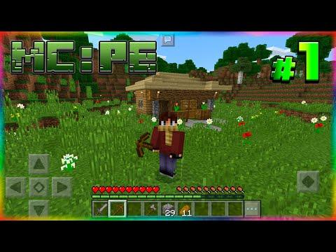 ВЫЖИВАНИЕ в Minecraft: PE #1 МАЙНКРАФТ ПЕ на СЕРВЕРЕ! MINECRAFT: POCKET EDITION!