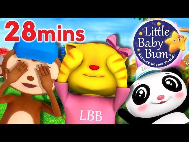 Peek A Boo Song | Plus Lots More Nursery Rhymes & Kids Song | 28 Minutes from LittleBabyBum!