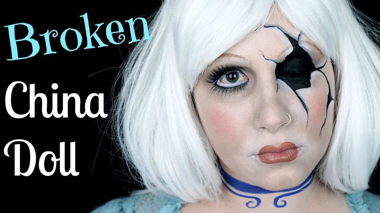 Broken China Doll Makeup Tutorial Face Painting Youtube