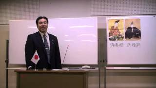 第3回黒田裕樹の歴史講座「源義経 ~悲劇のアイドル」の様子です(8/11...