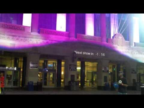 Pre Convention Center 3D Projection Light Show