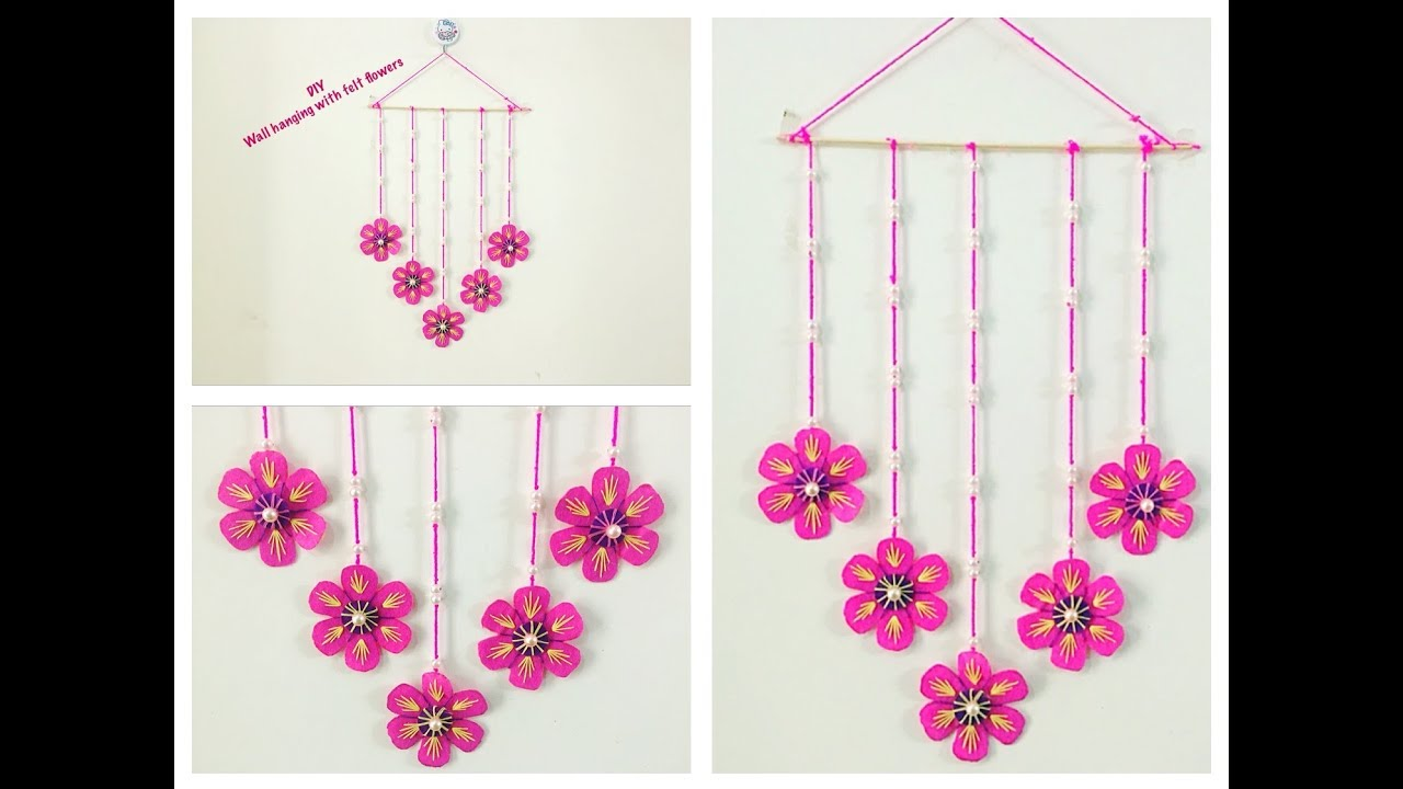 How To Make Wall Hanging From Felt Sheets Wall Decoration