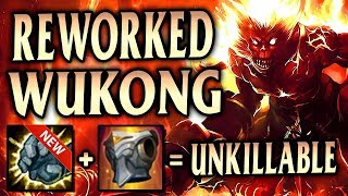 REWORKED TANK WUKONG IS UNKILLABLE & GOOD DAMAGE! Volcanic Jungle Wukong - League of Legends S9