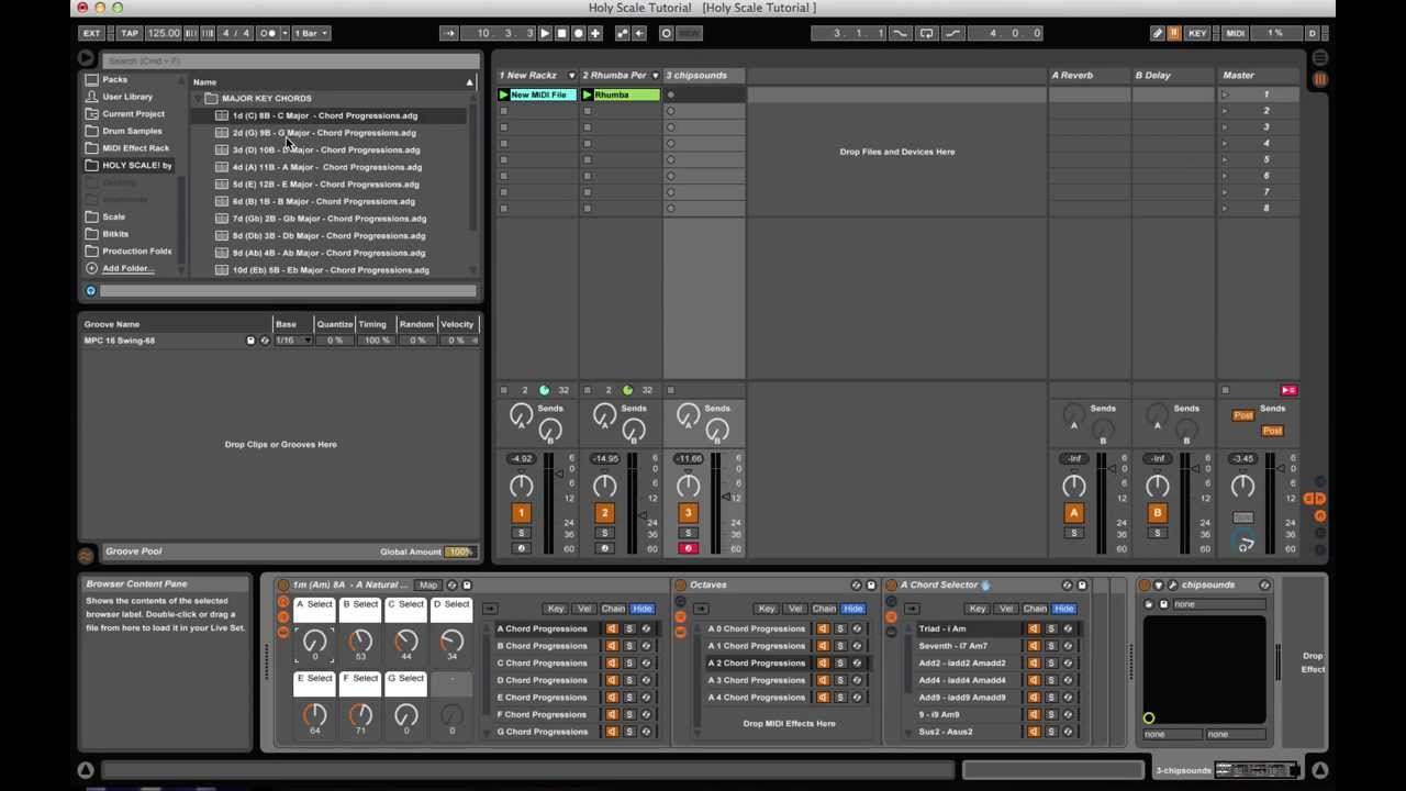Holy Scale - Chord Progression Rack from 8bitbandit | Ableton