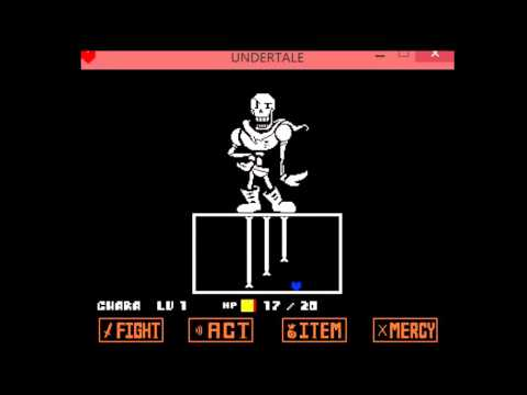 Undertale Papyrus Battle Simulator 2 Player