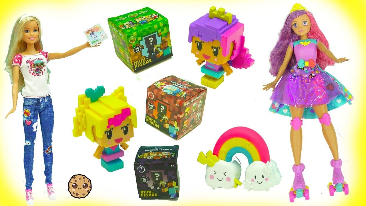 Video Game Hero Barbie Dolls + MineCraft ... - YouTube