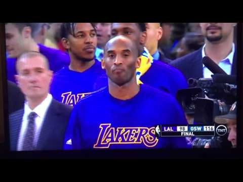 Kobe Bryant gets respect from Warriors and bids farewell to the Bay Area 01-14-16