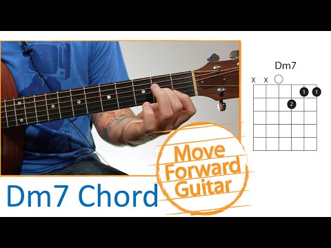 Video Beginners Guitar Lesson How To Play The D Minor 7th Chord Dm7