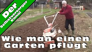 Wie man einen Garten pflügt
