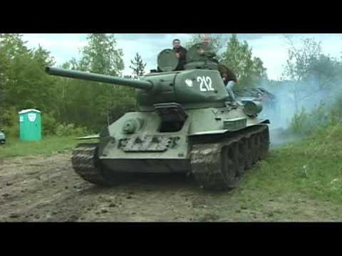 Czołg T-34, kamieniołom Wysoka. - YouTube
