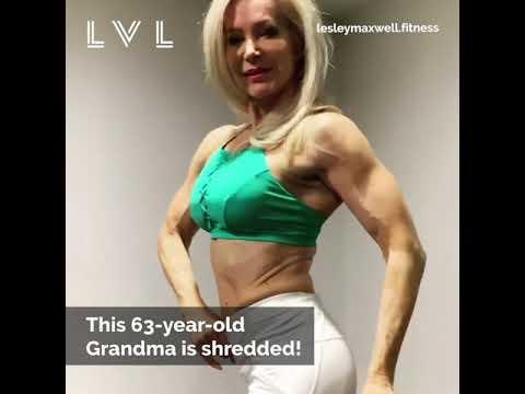 63 летняя женщина бодибилдер!