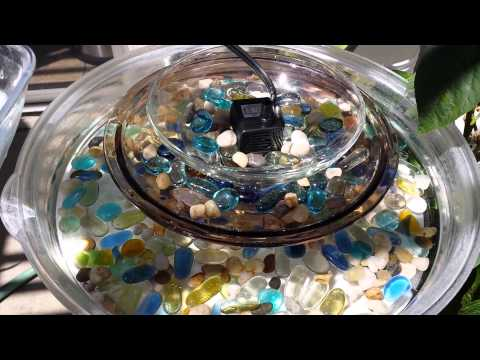 Diy Easy And Simple Outdoor Water Fountain Youtube