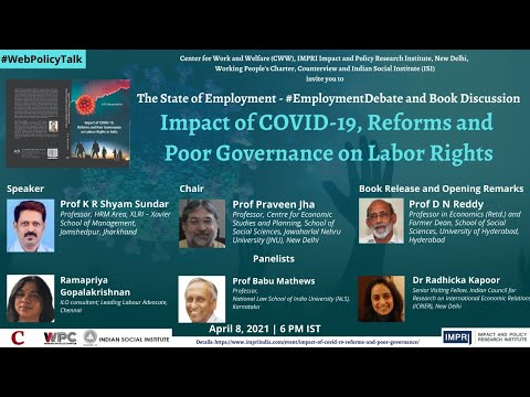 #EmploymentDebate | E9 | K R Shyam Sundar | Impact of Corona, Reforms & Poor Governance Labor Rights