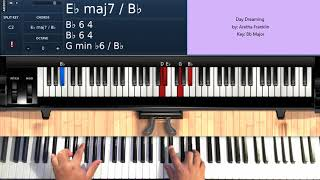 Day Dreaming (by Aretha Franklin) - Piano Tutorial