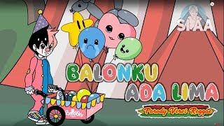 Balonku ada Lima  Versi Reggae (Video Animasi) l Cover LAGU ANAK INDONESIA