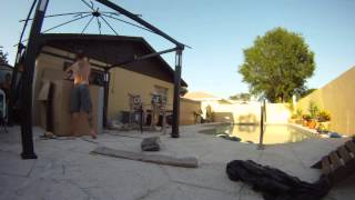 Assembling A Gazebo And Patio Furniture Time Lapse
