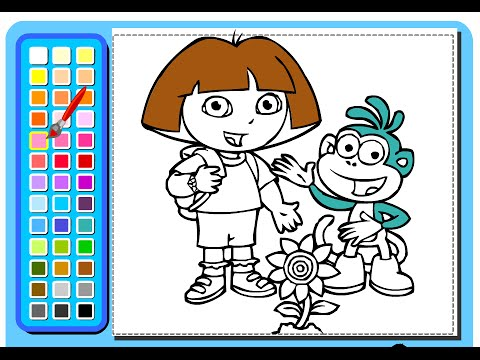 Dora The Explorer Painting Games  Painting Games For Kids  YouTube