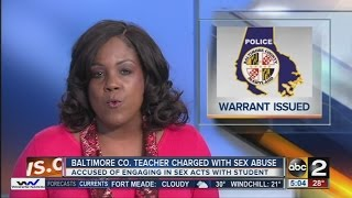 Arrest warrant out for teacher who is accused of sex act with student