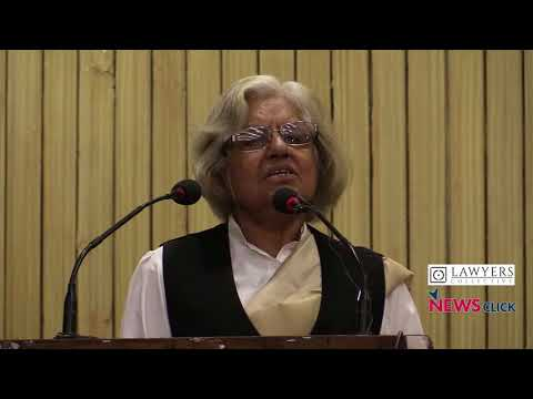 Indira Jaising Speaks on Independence of the Judiciary: Implication for Democracy
