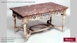 English Antique Coffee Table Papier-maché Tables For Sale