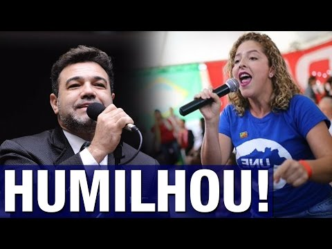 Marco Feliciano massacra presidente da UNE e a deixa sem argumentos; veja vídeo