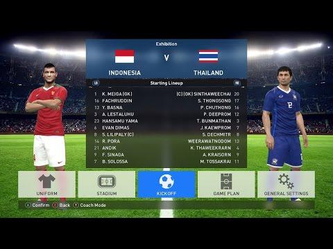 INDONESIA VS THAILAND PES 2017   FINAL AFF 2016 LEG 1
