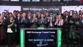 BMO Exchange Traded Funds opens Toronto Stock Exchange, February 19, 2020