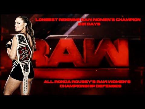 All Ronda Rousey's Raw Women's Championship Defenses