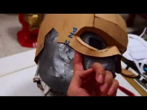 DIY Captain America Mask Part 1 - Cardboard (template) Costume How to