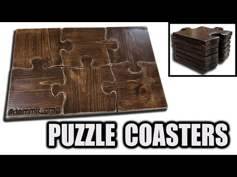Wooden Puzzle Coasters - Easy Gift Idea