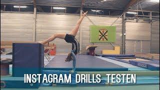 INSTAGRAM drills filmpjes uitproberen // CHALLENGE   Typisch Turnen
