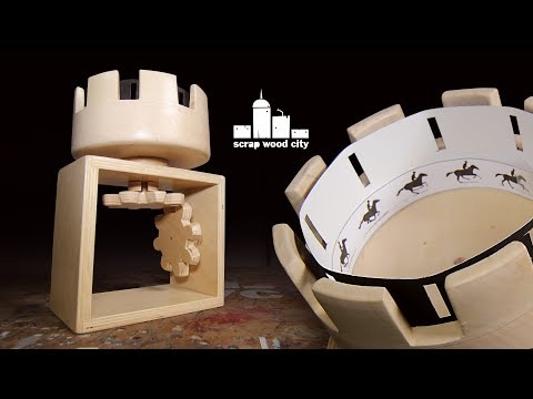 Making a wooden zoetrope with right angle gears - Animation toy