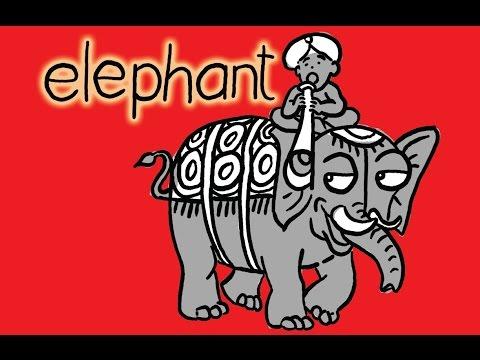 How to turn Words Elephant Into a Cartoon Elephant - Lê Phong Giao Art