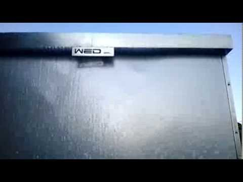 Parete d 39 acqua in acciaio youtube for Parete acqua