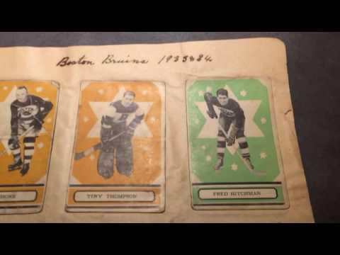 1933-34 hockey cards from original owner