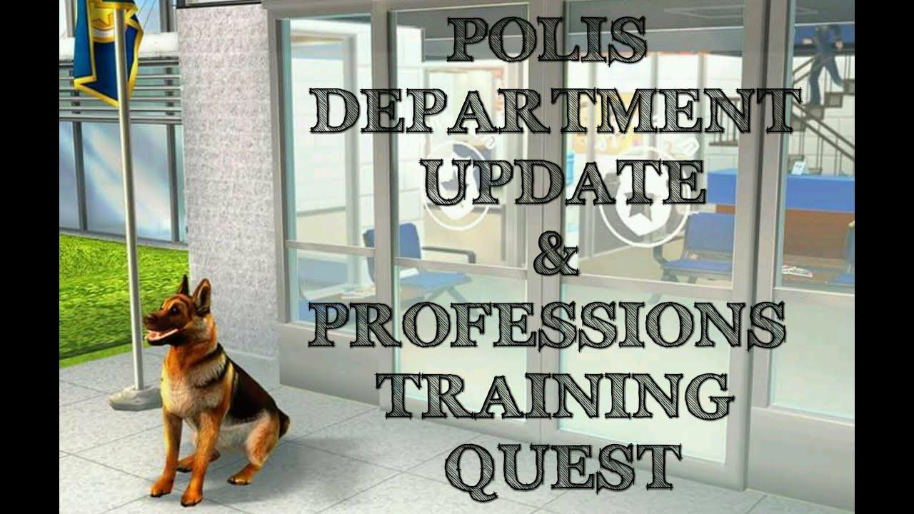 Download [The Sims Freeplay] - Polis Departmanı Güncellemesi (Professions Training Görevi)