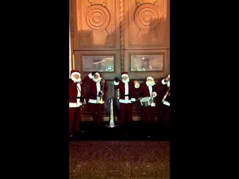 05 Valeriy Bukreev Santa Claus Jazz Band 2014 Moscow Mayor Sergei Sobyanin Opens a Christmas Fair at