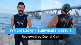 Tyr Men S Category 1 Sleeveless Wetsuit Reviewed By Daniel Cox Swimoutlet Com Youtube