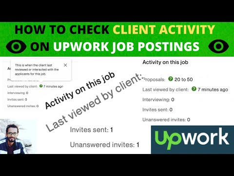 CHECK UPWORK CLIENT ACTIVITY ON THE JOB POST || HOW TO EARN $$$ ||