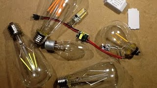 Dimming LED lamps with ordinary dimmers.