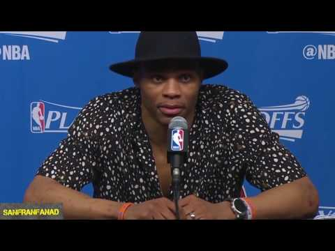 Westbrook & Beverley Trash Talk Each Other In Postgame Interview | Rockets vs Thunder G5 | NBA HD